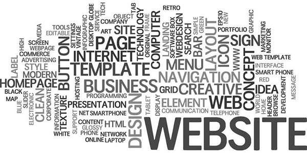 Nuage de mots clés web