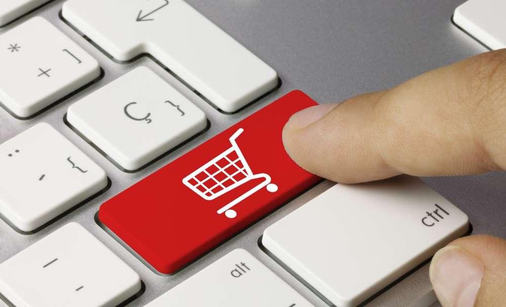 Touche clavier e-commerce
