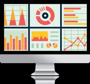 graphique statistiques performances digitales