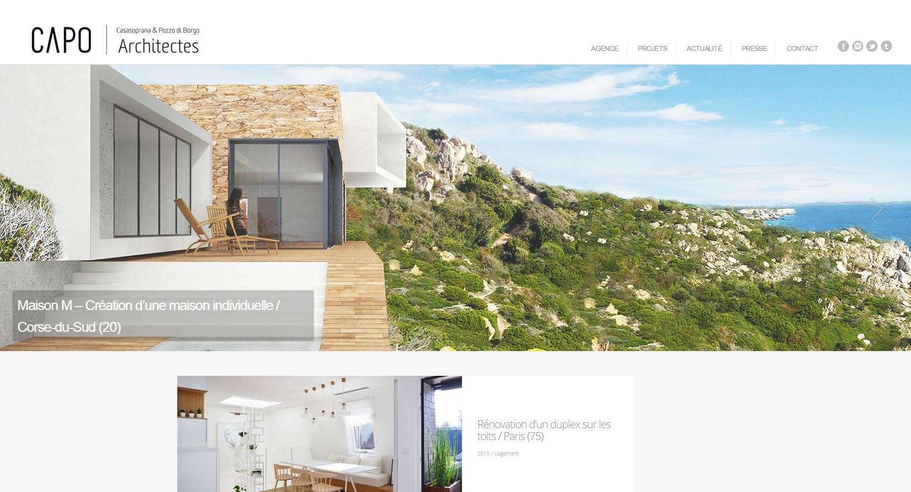 capo architectes agence d 39 architecture paris ajaccio josh digital. Black Bedroom Furniture Sets. Home Design Ideas