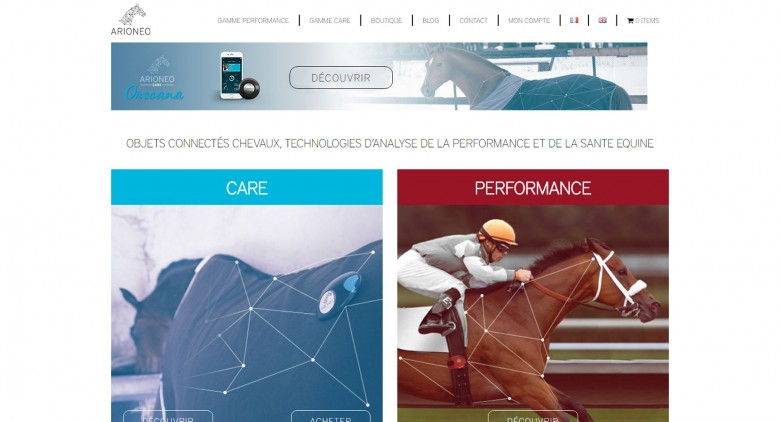 Arioneo,objets connectés pour chevaux, technologies d'analyse de la perfomance et de la santé équine