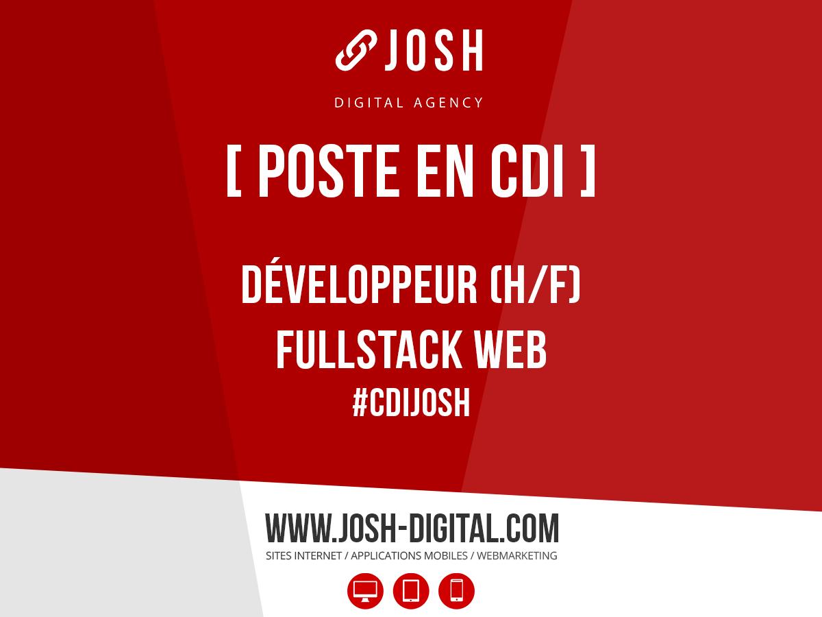 Offre d'emploi : Développeur Web Fullstack (H/F)