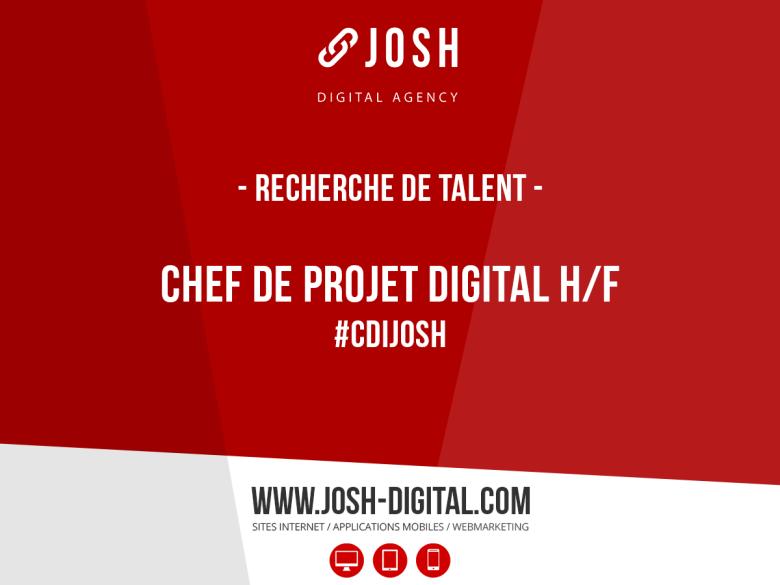 Recrutement : Chef de Projet Digital (H/F)