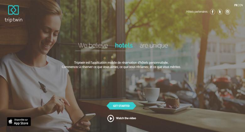 Triptwin, l'appli qui match hôtels et profils clients