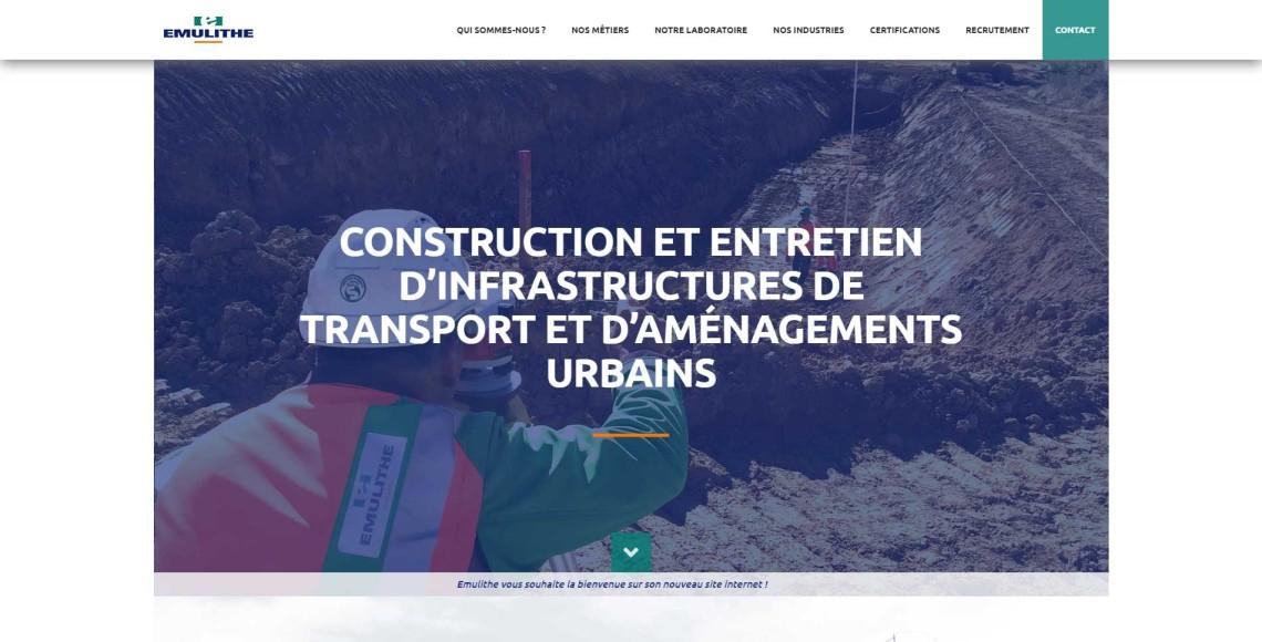 Homepage du site internet Emulithe
