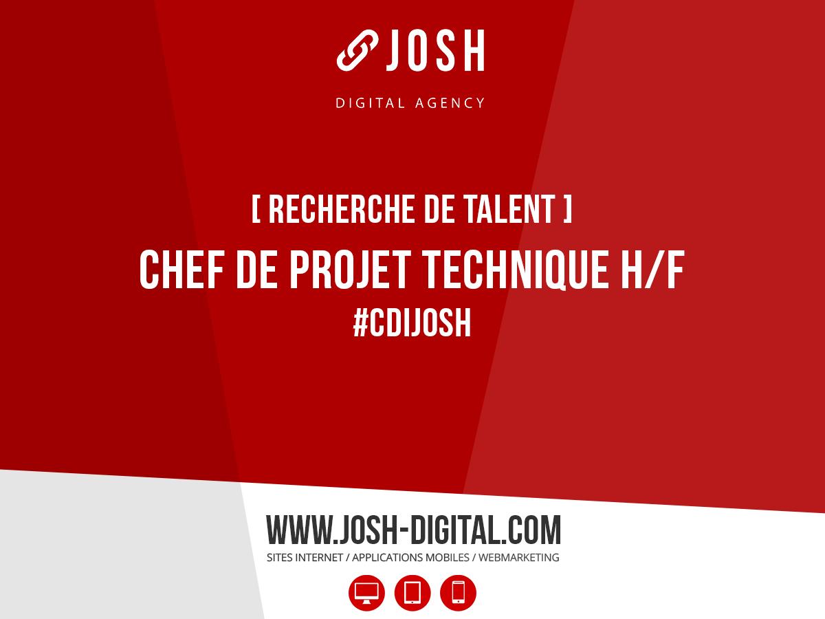 Recrutement : Chef de Projet Technique (H/F)