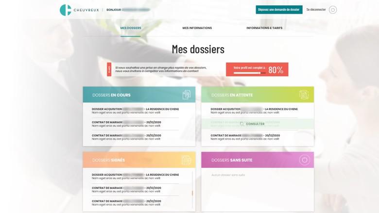 Cheuvreux, l'office notarial avec son nouveau portail client