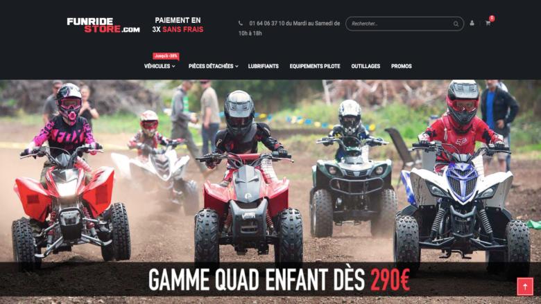 Funridestore, le site e-commerce spécialisé dans les motos & quads pour enfants
