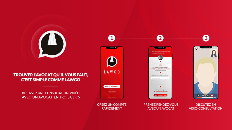 LawGo, l'application de visio Avocat / Client